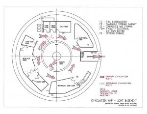 Evacuation map - JCMT basement