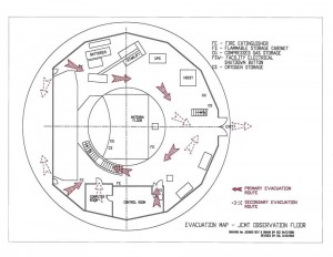 Evacuation map - JCMT Observation floor