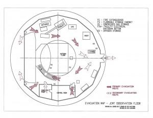 Evacuation map - JCMT Observation floor