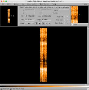 One of the heterodyne tutorial datasets imaged in Gaia.