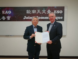 EAO Director General Dr. Paul Ho and ESO Director General Dr. Tim de Zeeuw signed a Joint Communiqué